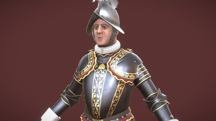 Commander of the Pontifical Swiss Guard 3D Model