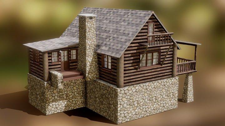 Log Cabin (Free Download) 3D Model