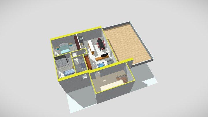Appartamento numero 09 piano primo 3D Model