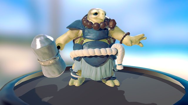 Maelstrom Saga - Kroga [Animated] 3D Model