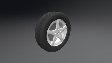 Modeling With Modifiers Wheel 3D Model