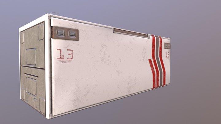 Sci- Fi Crate 3D Model