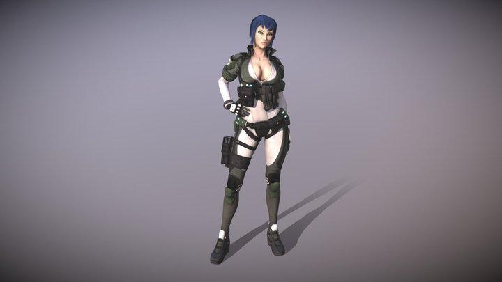 Motoko Kusanagi 3D Model