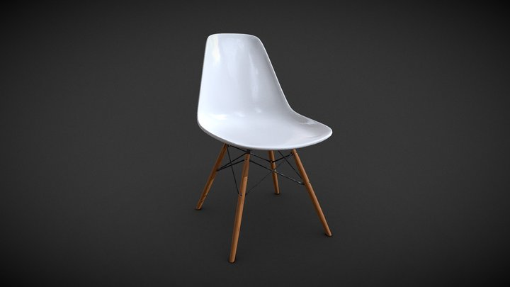 Charles Eames DSW Chair 3D Model