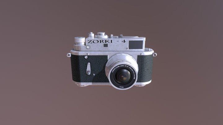Low Poly Camera 3D Model
