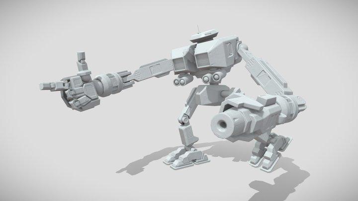 DAE Bot - Bake Test 3D Model