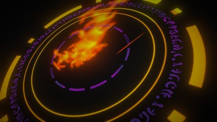 Chaos Flame Time Arch Glyph 3D Model