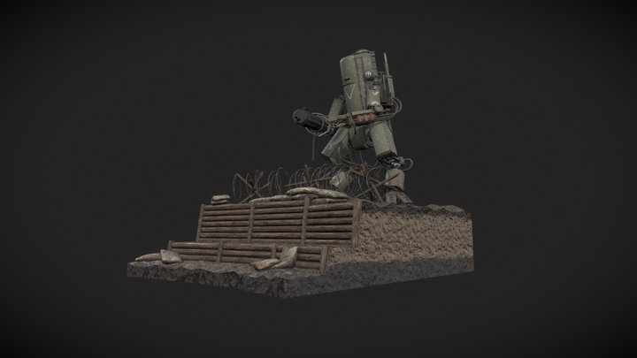 Diesel Punk Robot 3D Model