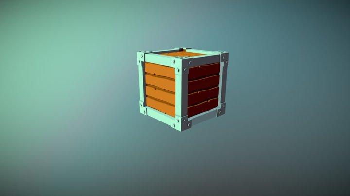Pirate box - Chest of treasure 3D Model