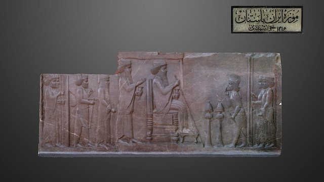 Relief of North Stairs of Apadana, Persepolis 3D Model