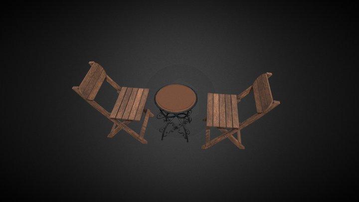 Garden Coffee Table 3D Model
