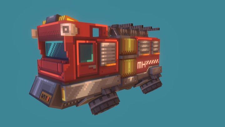 fire fighting truck 3D Model