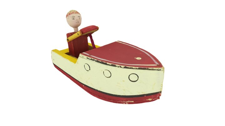 A Wooden Boat, A Toy 3D Model