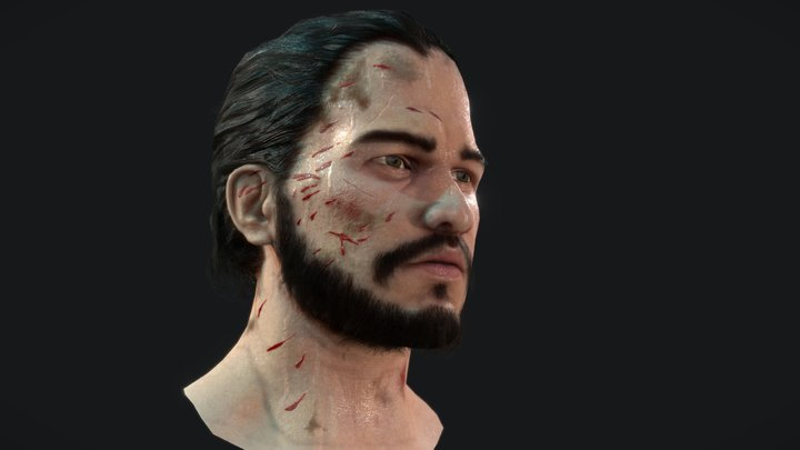 Jon Snow Fanart (head only) 3D Model