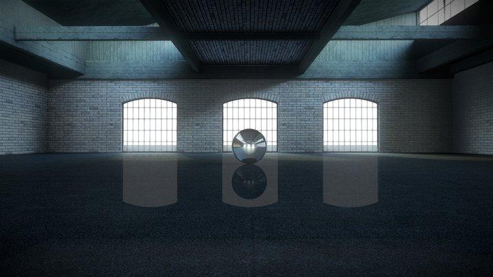 Warehouse VR for Product & Car Showcase 4K 3D Model