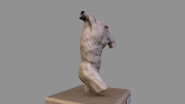 """IUPUI Public Art - """"Torso Fragment"""" 3D Model"""