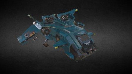 Storm Eagle Gunship 3D Model