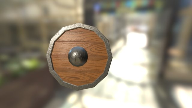 Worn-out shield 3D Model