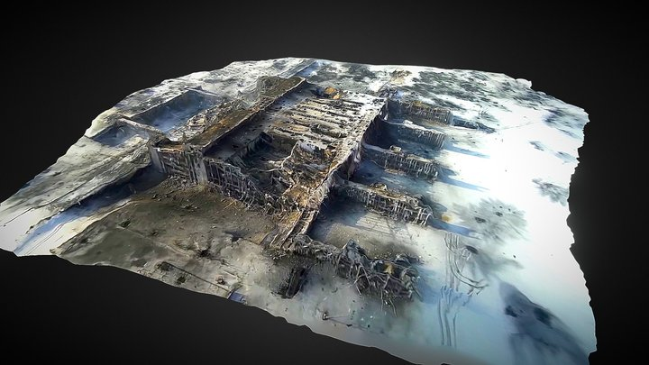 Donetsk Int'l Airport Terminal 3D Model