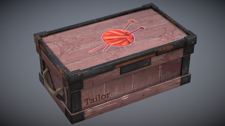 Box of tailor 3D Model