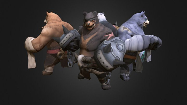 Fighter Bear 3D Model