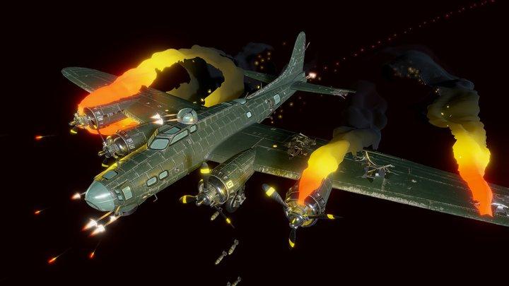 Crash of a B-17 3D Model