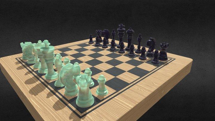 Jade Chess 3D Model