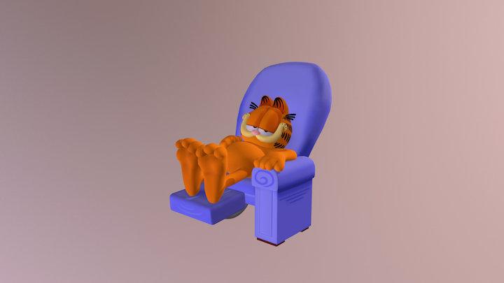 Garfield Chillin 3D Model