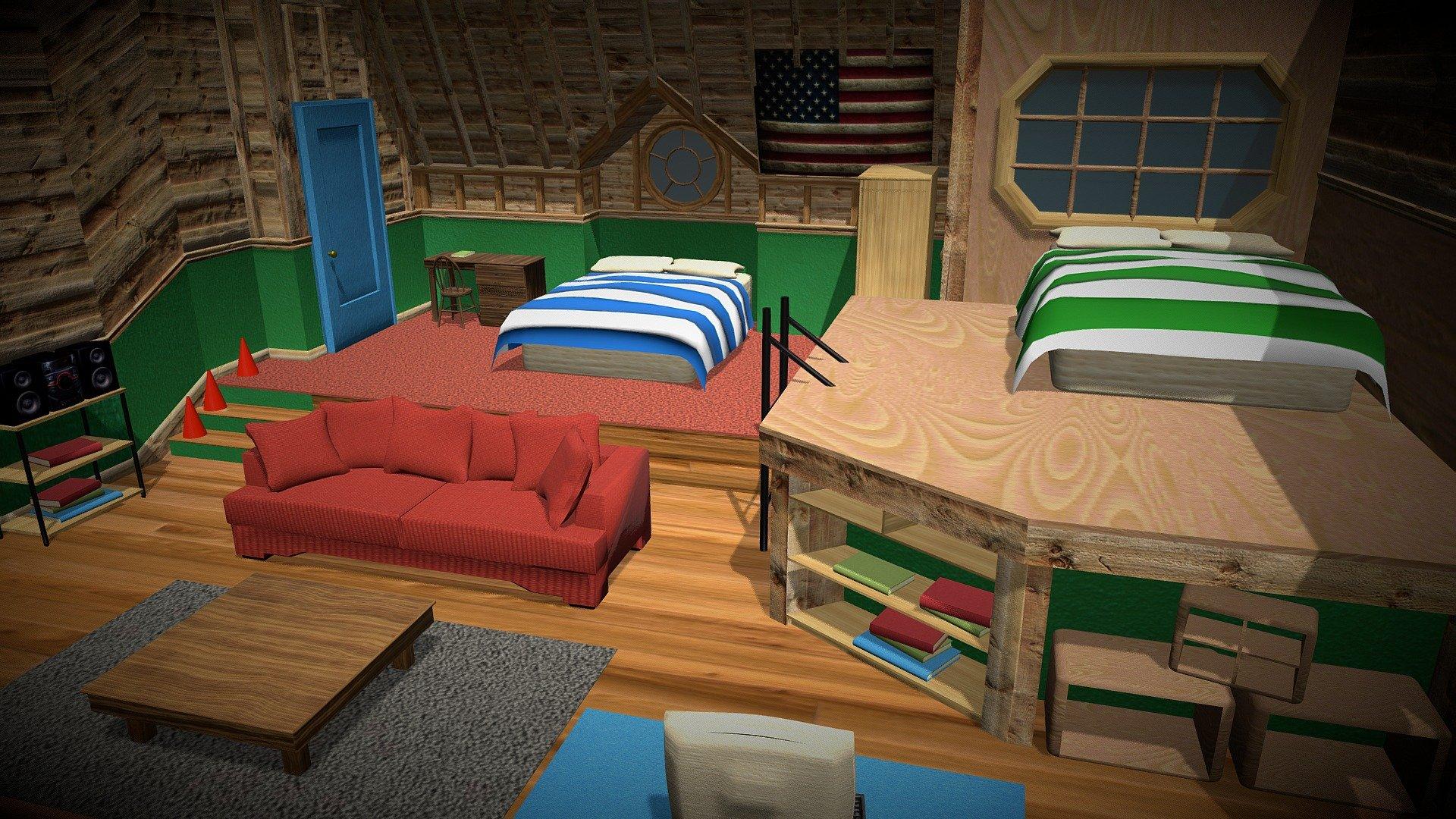 drake & josh's bedroom - 3d modeldazzler (@dazzler