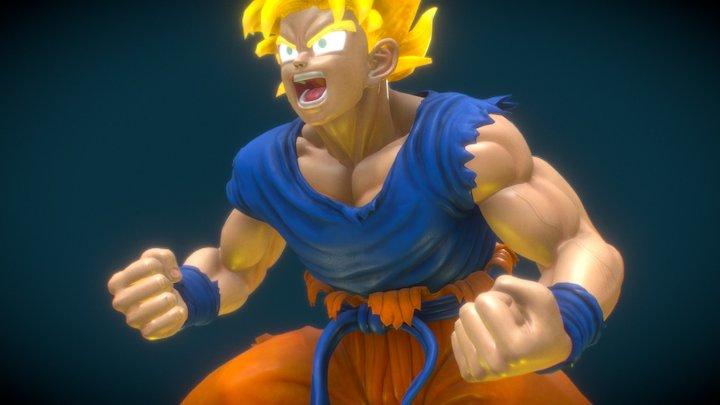 Super Saiyan 3D Model