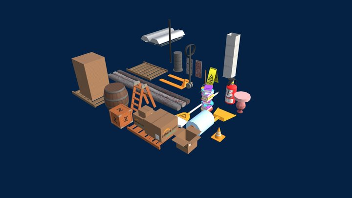 2 day shipping Assets 3D Model