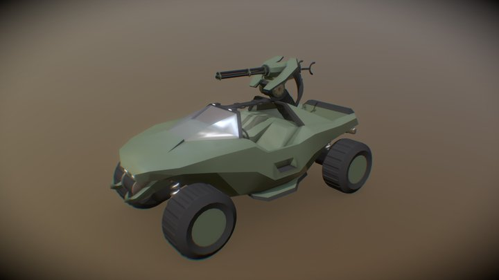Halo Warthog 3D Model