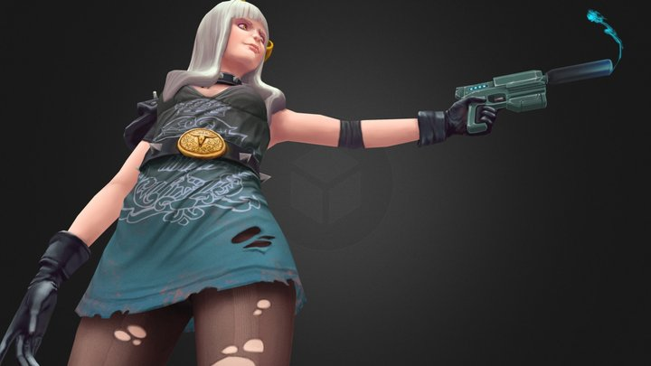 Francine (Second Version) 3D Model