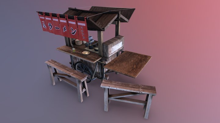Ramen-Yatai 3D Model