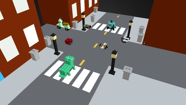 Hungry Lizards - Level 4 3D Model