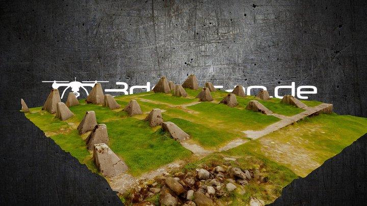 """""""Westwall"""" near Aachen (LowPoly & HQ Texture) 3D Model"""