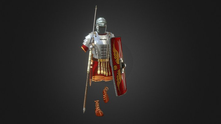Roman Armor-rigged,animated In Progress 3D Model