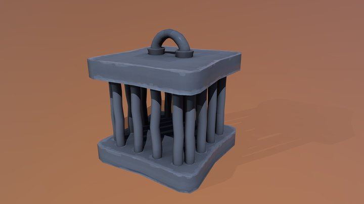 Stylised Cage 3D Model