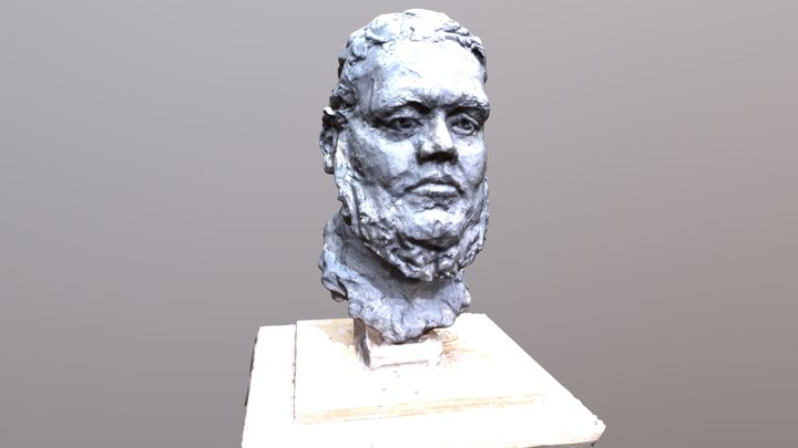 Head sculpture by Margriet Eyken 3D Model