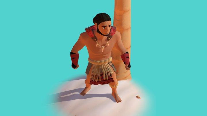 Polynesian Warrior 3D Model