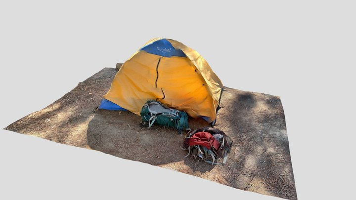 Backpacking tent 3D Model
