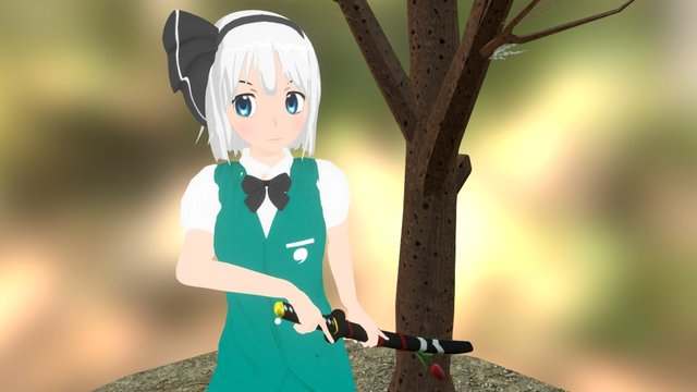 Konpaku Youmu Sword Animation 3D Model