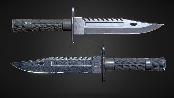 M9 Bayonet - Smith&Wesson 3D Model
