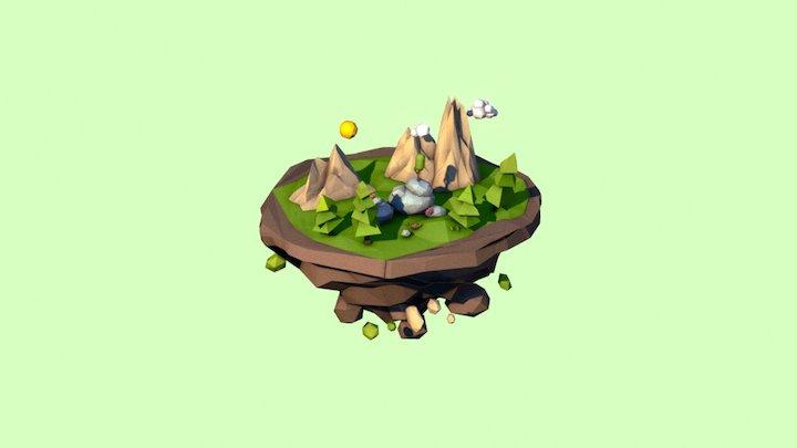 Lowpoly island 3D Model
