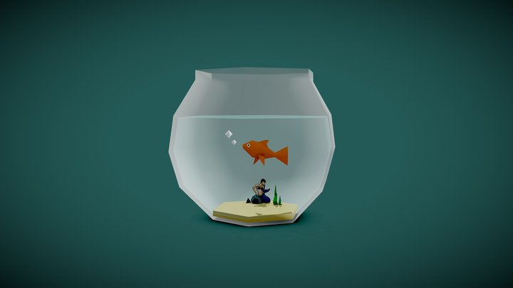 Fish Bowl: Household Props 1 3D Model