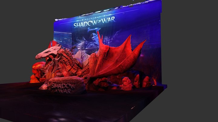 PAX 2017: Shadow Of War Dragon 3D Model