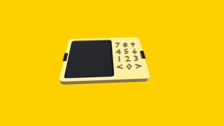 Number-pad 3D Model