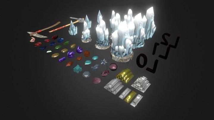 Gemas, Joyas y otros recursos 3D Model