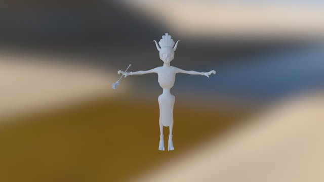 Skinny NPC Mesh 3D Model