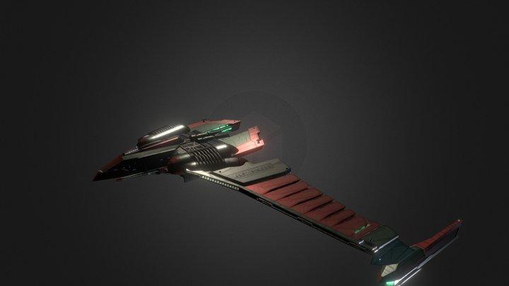 Romulan V-30 Winged Defender Type 2.5 3D Model